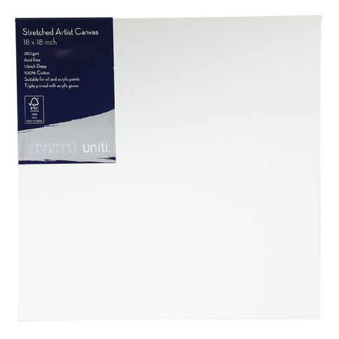 Uniti Platinum Canvas 18x18 Inches 380Gsm