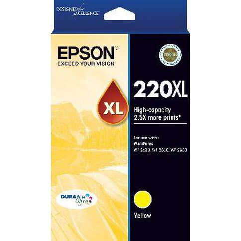 Epson Ink 220XL Yellow (250 Pages)