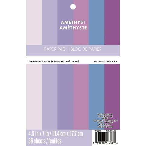 Recollections Paper Pad Amethyst 4.5in x 7in