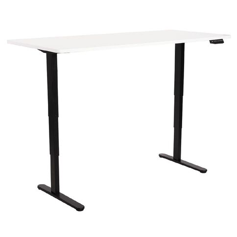 Workspace Office Brand Height Adjustable Desk White 80cm x 180cm