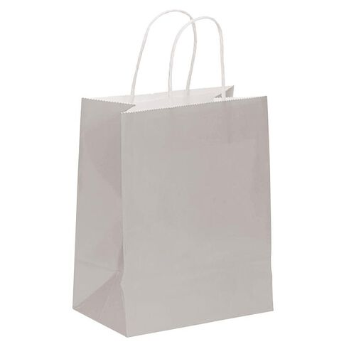 John Sands Gift Bag Silver Kraft Medium