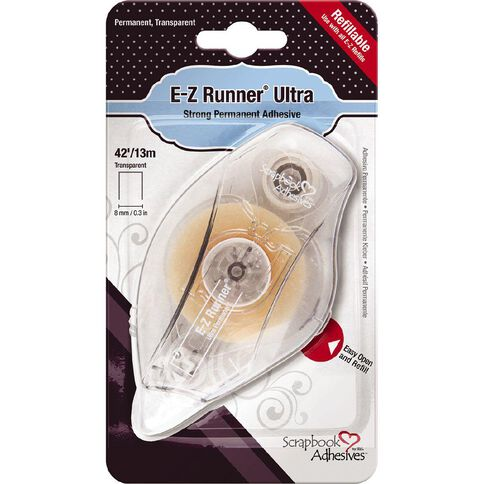 3L Scrapbook Adhesives E-Z Runner Permanent Clear