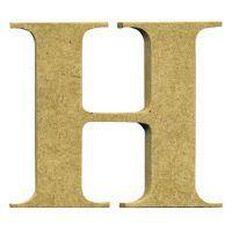 Sullivans Mdf Board Alphabet Letter 17cm H Brown