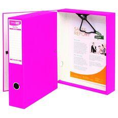 ColourHide Foolscap Linen Box File Pink