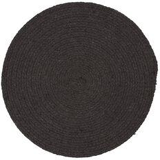 Living & Co Coast Cotton Placemat Black 33cm