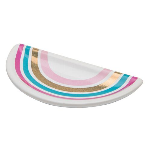 Kookie Ceramic Rainbow Jewellery Dish