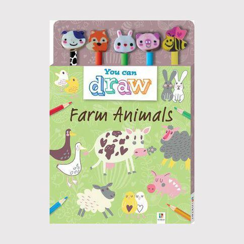 5 Pencil Set Learn to Draw Animals