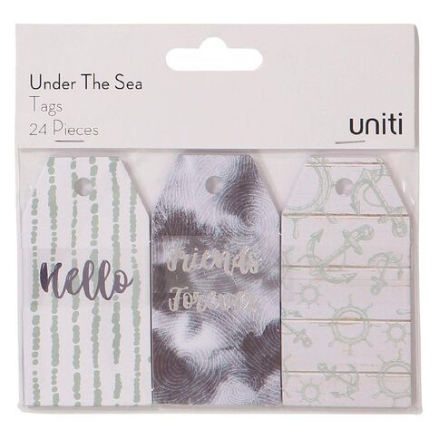 Uniti Under The Sea Tags 24 Pieces