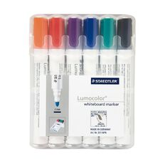 Staedtler Lumocolor Whiteboard Marker Bullet Wallet Of 6