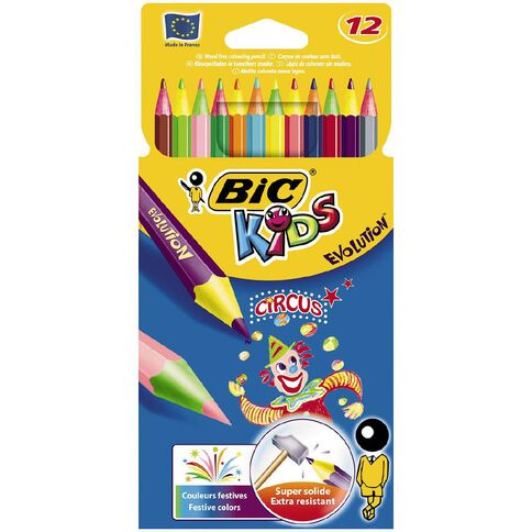 Bic Kids Circus Colour Pencils 12 Pack Multi-Coloured