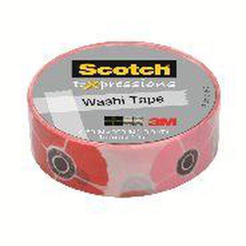 Scotch Washi Craft Tape 15mm x 10m Poppy