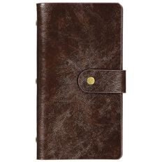 Paper Co Vintage Business Card Holder 96 Pockets Brown