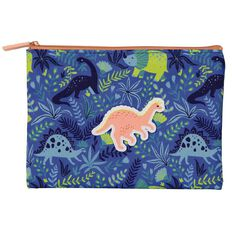Kookie DINOSAUR 2 Zip Flat Pencil Case
