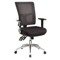 Jasper J Enduro Black Chair with Alloy base and Adjustable Arms
