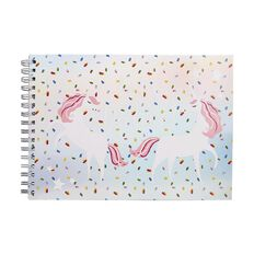 Kookie Bright Sketchpad Spiral Unicorn Pink A4