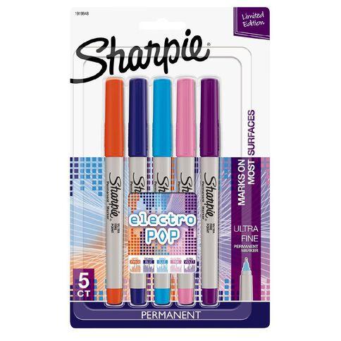 Sharpie Ultra Fine Permanent Marker Electro Pop Assorted 5 Pack