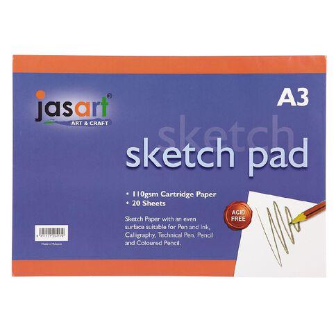 Jasart Sketch Pad 20 Sheets A3