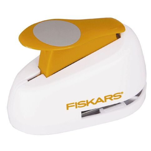 Fiskars Lever Punch Circle 1 inch White
