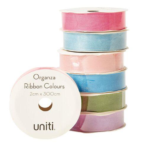 Uniti Organza Ribbon Colours 3m Assorted