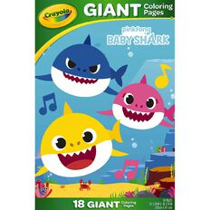Crayola Giant Colouring Pages Baby Shark