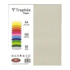 Trophee Paper 80gsm 100 Pack Pearl Grey A4