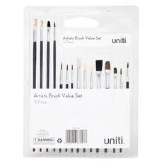 Uniti Brush Artists Value Set 15 Piece