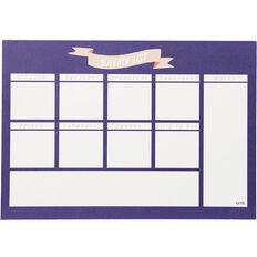Uniti Empowerment Weekly Planner Navy A4