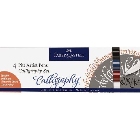 Faber-Castell Pitt Artist Pens Calligraphy 4 Pack