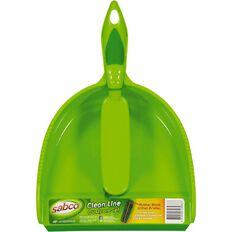 Sabco Cleanline Blade Dustpan & Brush Green