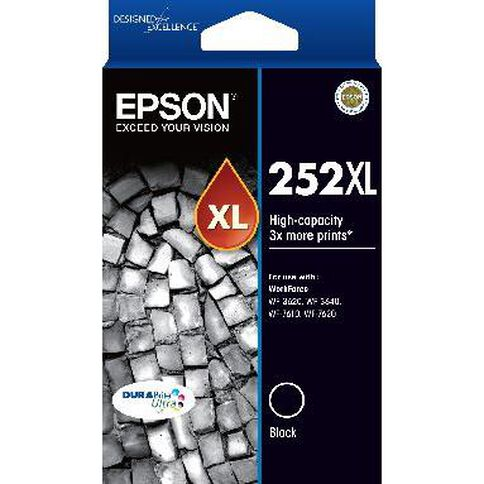 Epson Ink 252XL Black (1100 Pages)