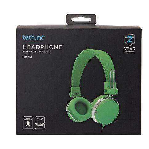 Tech.Inc Verve Headphones Neon Green