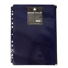 Office Supply Co Binder Zip Lock Wallets Multi Hole Spine Blue A4