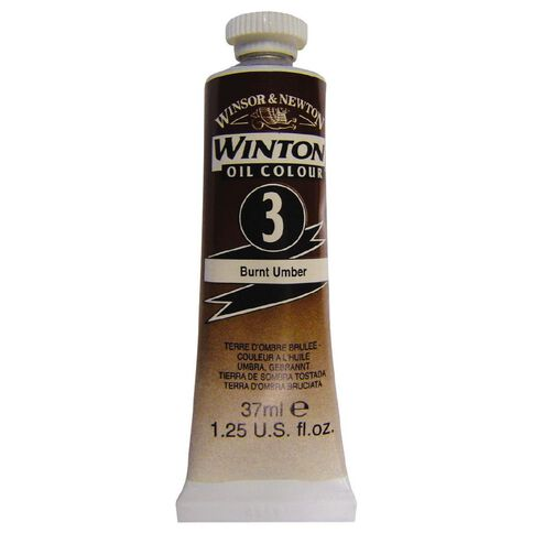 Winsor & Newton Winton Oil Paint 37ml Burnt Umber Brown