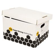 Marbig Super Strong Archive Retail Box 2 Pack White