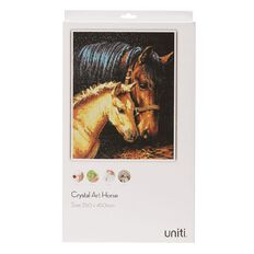 Uniti Crystal Art 35 x 45cm Horse and Foal