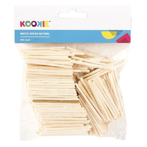 Kookie Matchsticks Natural 500 Pack