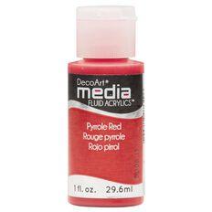 DecoArt Fluid Acrylic 30ml Pyrrole Red