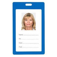 Rexel Plastic Card Holder Portrait 6 Pack Blue