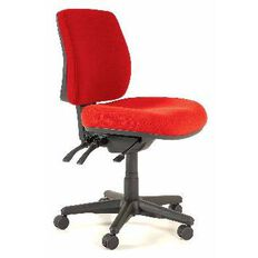 Buro Seating Roma 3 Lever Midback Chair Red Red