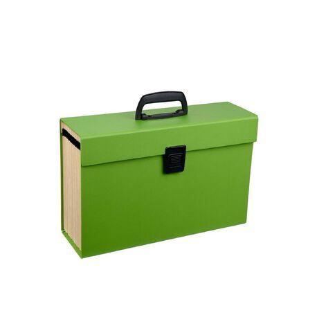 Impact Concertina File 19 Pocket Green