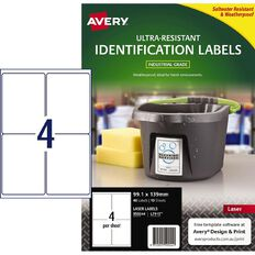 Avery Ultra-Resistant Outdoor Labels White 40 Labels