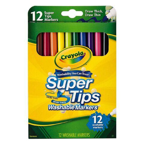 Crayola Super Tip Markers 12 Pack 12 Pack