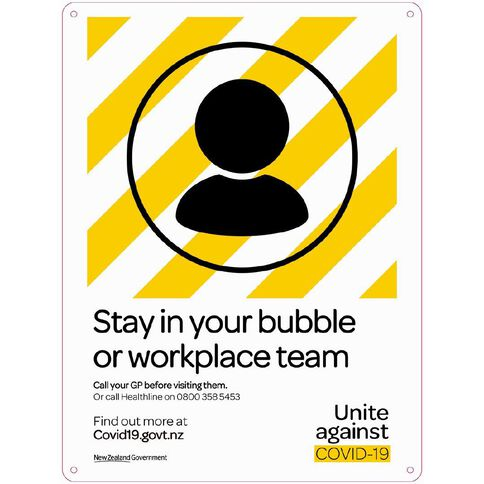 WS COVID Sign STAY IN YOUR BUBBLE