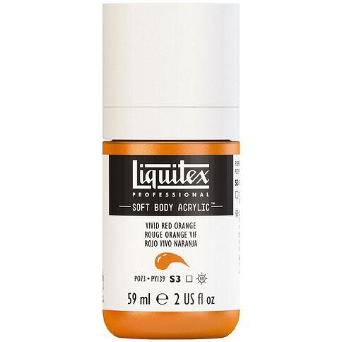 Liquitex Soft Body Acrylic 59ml Vivid Red Orange S3