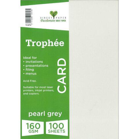 Trophee Card 160gsm 100 Pack Pearl Grey A4