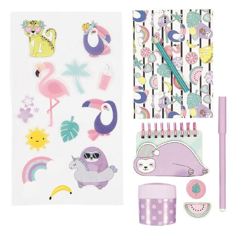 Kookie Paradise Pals Stationery Set 8 Pieces