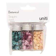 Uniti Botanical Sequins 3 Pack