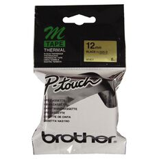 Brother Label Tape M-831 12mm Black/Gold
