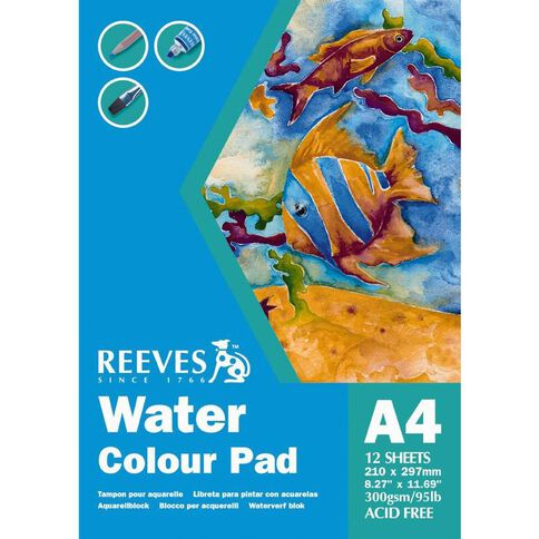 Reeves Water Colour Pad White A4