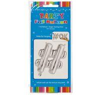 Artwrap Foil Balloon Hash Tag Silver 35cm
